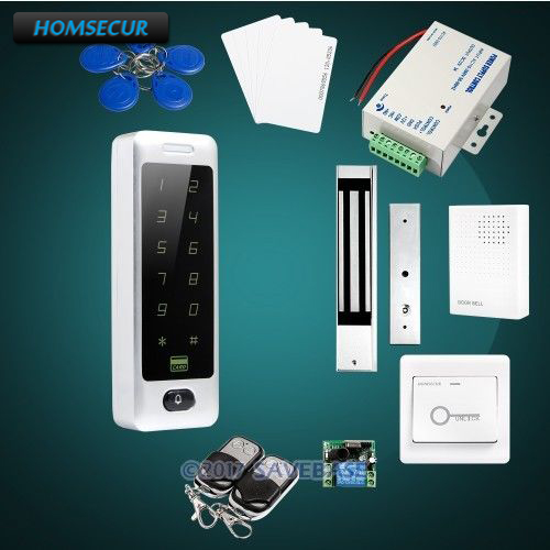HOMSECUR Waterproof Touch Keypad DIY Access Control System With Data Copy and Backup For Easy Storing
