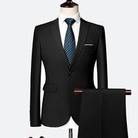 formal men Blazer jacket and pant 10 color selection men two piece set Asia size S 6XL mens suits