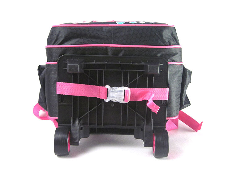 7100cf72857 Black Pink Hello Kitty Bags for Girls Travelling Trolley School Bag Set  Trolley Luggage Kit for Children Cute Bookbags on Wheels-in School Bags  from Luggage ...