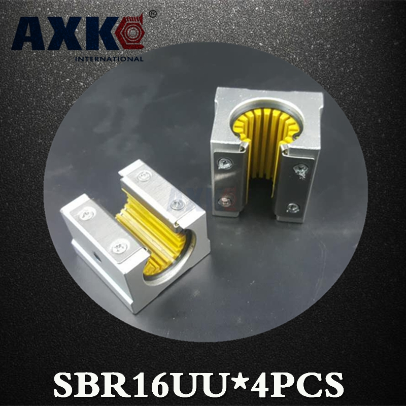 AXK Axk Sbr16uu Sbr16uu-s Sbr16 16mm Linear Guide Rail Corrosion-resistant Plastic Dust Slider Bearing Maintenance Low Noise 1 piece bu3328 6 6 33 27 5 29 5 mm z25 guide rail u groove plastic roller embedded dual bearing