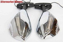 For Motorcycle Triumph Daytona TT600 Trophy Ducati CHROMED CLEAR Turn Signal Mirrors