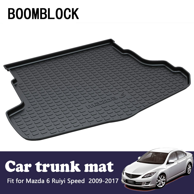 For Mazda 6 M6 Speed 2009 2010 2011 2012 2013 2014 2015 2016 2017 Waterproof Anti-slip Car Trunk Mat Tray Floor Carpet Pad стоимость