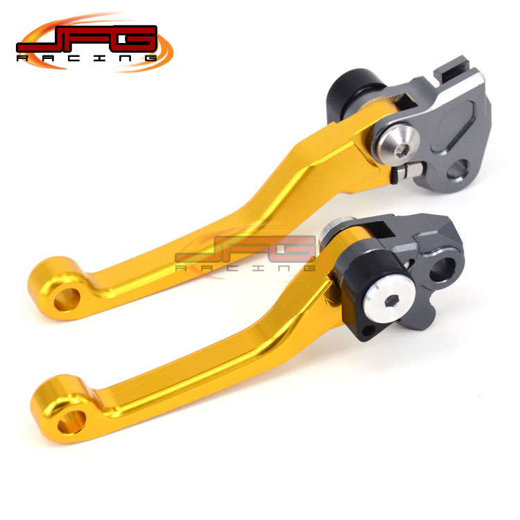 CNC Pivot Foldable Clutch Brake Lever For RMZ250 07-16 RMZ450 05-16 gold Supermoto Enduro Dirt Bike Off Road