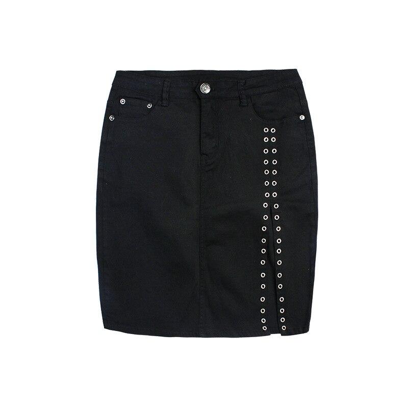 9b19b1b3c € 30.05 22% de DESCUENTO Nuevo Diseño de niza de Las Mujeres Paño Midskirt  Cintura Alta Elevación Delgada de La Cadera Faldas delgadas Remaches ...