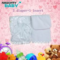 Free Shipping 90 Sets 3 Colors Waterproof Adult cloth diaper Nappy nappies double snaps diapers (1pc+1pc micorfiber insert)