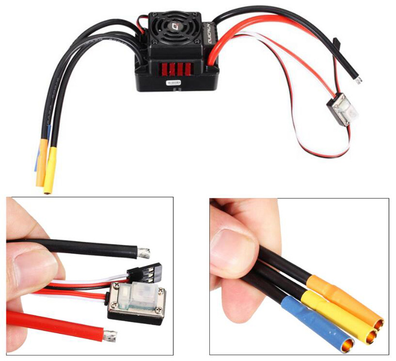 Original Hobbywing ESC Quicrun WP-8BL150 150A Waterproof Non-inductively Brushless Electronic Speed Controller for RC Model hobbywing quicrun wp 16bl30 hobbywing quicrun 30110000 brushless waterproof 30a sensorless esc wp 16bl30 for 1 16