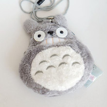 1 Pc Leuke Anime Hayao Miyazaki Pluche Portemonnee Cartoon My Neighbor Totoro Kaarthouder Telefoon Tas Pluche Coin Bag voor kids Gift(China)