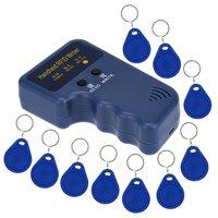 Handheld 125KHz RFID ID Card Writer Copier Duplicator 10pcs Writable EM4305 Key Cards Hot Sale