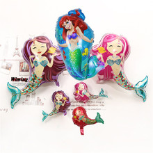 foil mermaid birthday balloons inflatable toys girl party decoration little supplies princess
