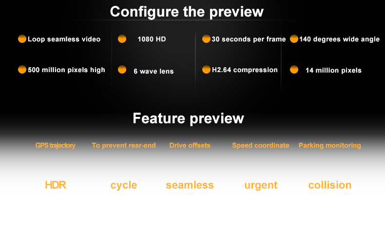 Original Podofo  Mini Car DVR Camera Dashcam Full HD 1080P Video Registrator Recorder G-sensor Night Vision Dash Cam Blackbox4