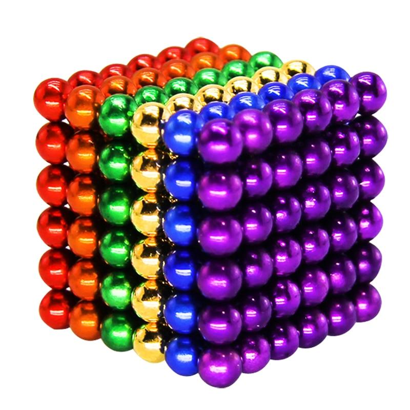 216pcs 5mm Neodymium Magnetic Magic Cube Balls Spheres Beads Magnet Blocks Puzzle Neo Cube