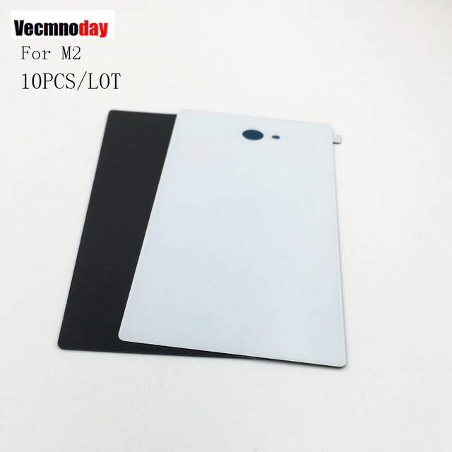 Vecmnoday 10Pcs/lot Battery Cover Parts For Sony Xperia M2 S50h Dual D2302 D2305 Rear Battery Door Back Cover Housing NFC
