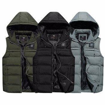 Mens Jacket Sleeveless Vest New Brand Winter Fashion Casual Coats Men'S Vest Male Thicken Waistcoat Warm Clothing Size L-4XL
