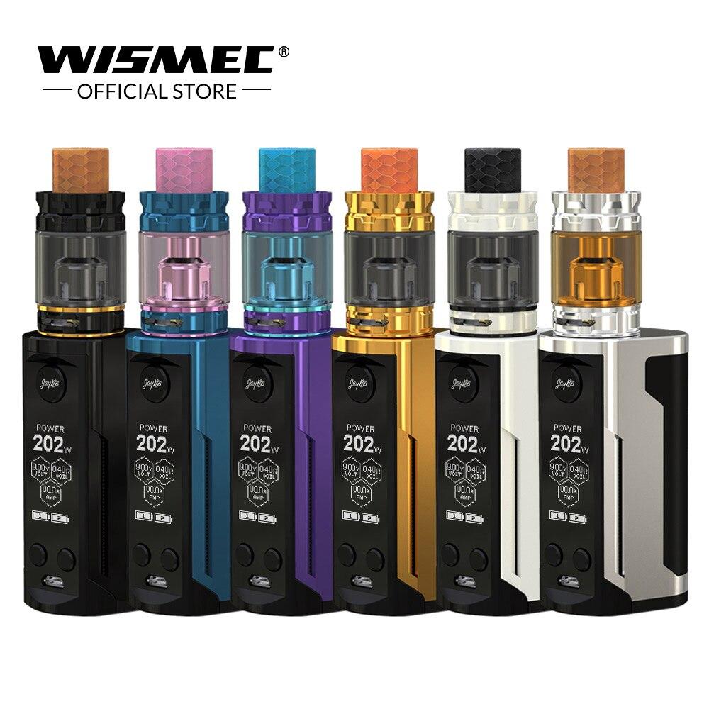 USA Entrepôt Wismec Reuleaux RX GEN3 Double avec Roi GNOME Réservoir 5.8 ml Alimenté par 18650 Batterie cigarette Électronique Vape kit