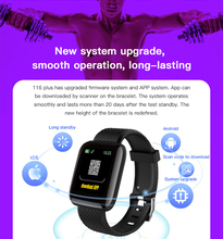 Get more info on the Smart Bracelet Waterproof 116 PLUS Fitness Tracker Watch Blood Pressure Heart Rate Monitor Smart Band Women Men PK Fit Bit