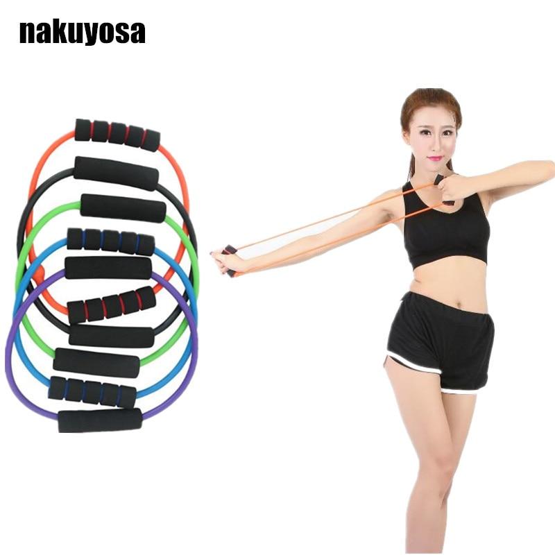 Vertvie бренд Пилатес латексные трубки экспандеры упражнения трубы O форма Резистентные ленты для женщин и мужчин спорт фитнес оборудование