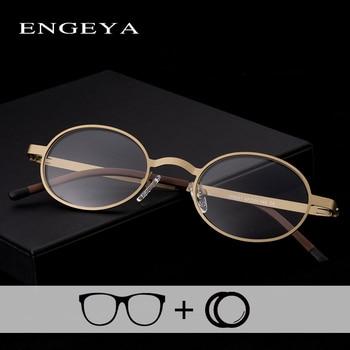 Alloy Eyewear Prescription Eyewear Men Women Oval Retro Vintage Computer Photochromic Reading Eye Glasses Sight #IP8041