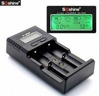 Soshineのh2 18650バッテリー充電器液晶ディスプレイウォール充電器と自動車用車の充電器26650リチウムイオン電池digcharger