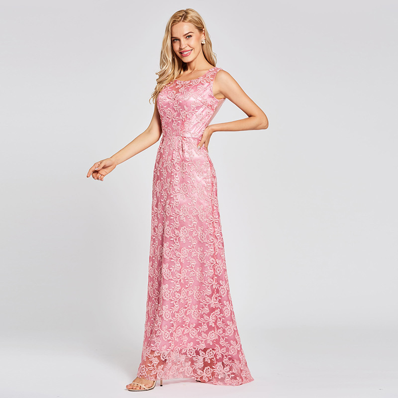 Купить кружевное вечернее платье tanpell персиковое платье в пол без