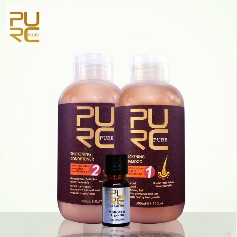 PURC hair shampoo and conditioner for hair growth and hair loss prevents premature thinnin