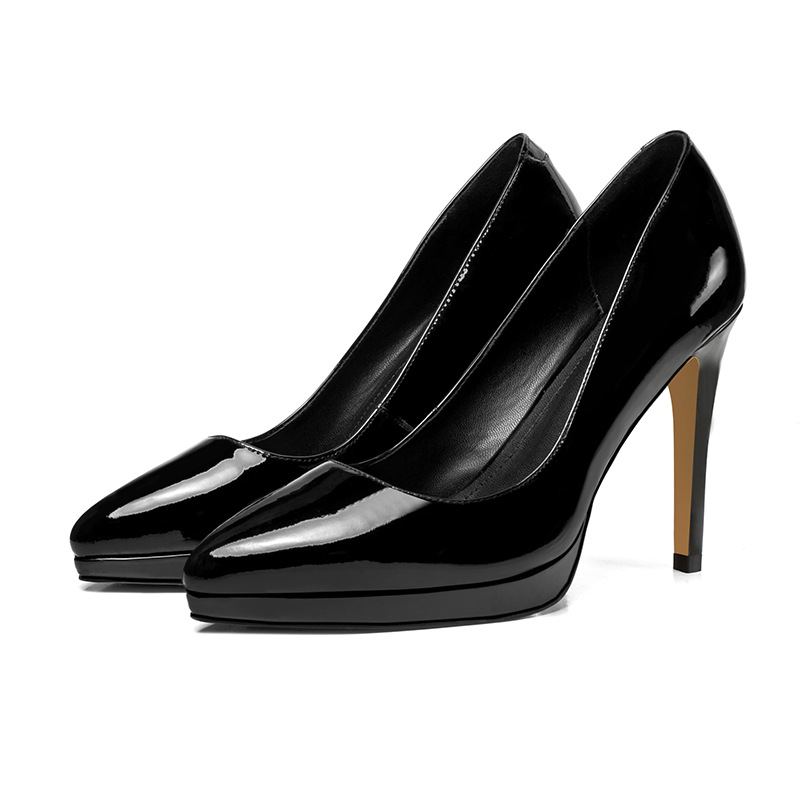 2018 spring and autumn new high-heeled shoes stiletto pointed shallow mouth ol professional shoes black ljj 03242018 spring and autumn new high-heeled shoes stiletto pointed shallow mouth ol professional shoes black ljj 0324