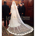 2017 New Collection One Layer Extra-Long Lace Bridal Veil Royal Imperial High Quality Wedding Veil Longest White Ivory Veil
