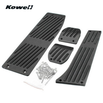 KOWELL Foot Rest Fuel Brake Clutch Pedals Plate Cover Car Pedal Pads For BMW 3 Series E30 E36 E46 E87 E90 E91 E92 E93 M3 + logo image