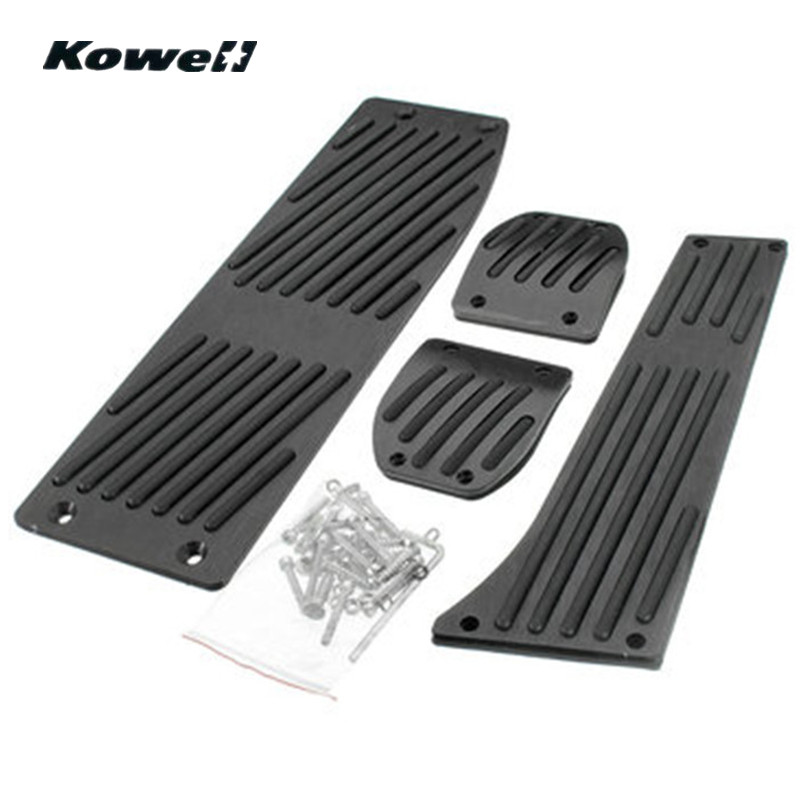 KOWELL Foot Rest Fuel <font><b>Brake</b></font> Clutch Pedals Plate Cover Car Pedal Pads For <font><b>BMW</b></font> 3 Series <font><b>E30</b></font> E36 E46 E87 E90 E91 E92 E93 M3 + logo image