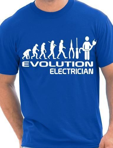 Evolution Of Electrician Funny Mens T-Shirt Gift More Size and Colors-A045