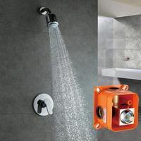 abs Bathroom In Wall Shower Set With Rain Shower Chuveiro Set Shower Hotel IS123