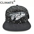 CLIMATE Science Star Wars Ship Millennium Falcon Adjustable Snapback Caps Baseball Famous Spacecraft Star Wars Hat for man women