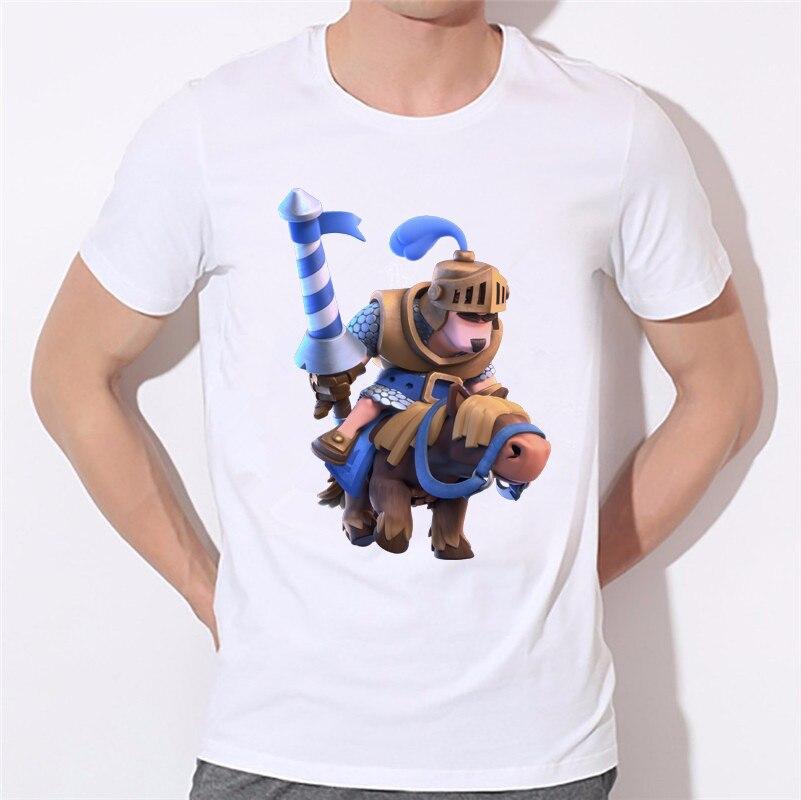 クラッシュロワイヤルゲームtシャツ3d男アニメーションゲームロイヤル男の子プリントtシャツ戦争ファッション