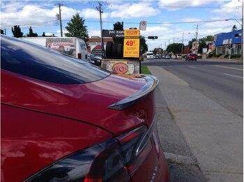 NIEUWE Carbon Fiber SPOILERS ABS AUTO ACHTERVLEUGEL TRUNK SPOILER VOOR Tesla Model S 2012 2013 2014 2015 2016 2017 DOOR EMS