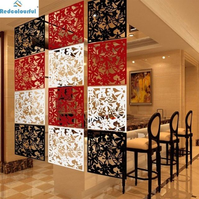 Redcolourful Hollow Hanging Screen Modern Erfly Flower Curtain Room Divider Parion Home Decor 30