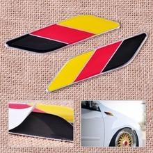CITALL 1 Pair Aluminum Germany Flag Color Emblem Badge Stripe Sticker Decal for Ford VW Audi BMW Mercedes Toyota Honda Hyundai