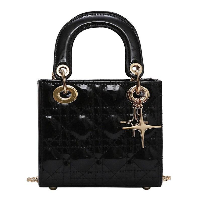 100% QualitäT Luxus Marke 2019 Neue Mode Frauen Handtasche Pu Leder Qualität Designer Frauen Handtasche Schulter Kette, Messenger Taschen, Phantasie Farben