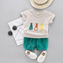 Toddler Kid Infant Baby Summer Clothing Set 2019 New Children Short Sleeve Shirt Boys Suit