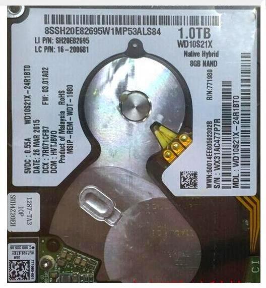 2.5 inch 1TB Solid State Hybrid Hard Drive 7mm SATA6.0Gb/s WD10S21X SSHD