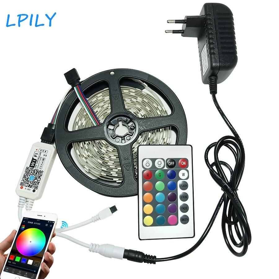 lpily-wifi-rgb-led-strip-light-smd-5050-led-stripe-waterproof-5m-lot-10m-15m-leds-tape-ribbon-flexible-dc-12v-adapter-set