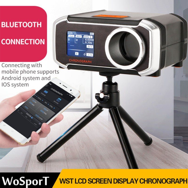 LCD Hunting Speed Tester Easy Operation With Battery Powered Shooting Chronograph Accessories for Bluetooth IOS Android
