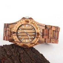 Natural wood watch Charcoal color handmade unisex Vegan Quartz Casual Wrist original watch WA-65-5602