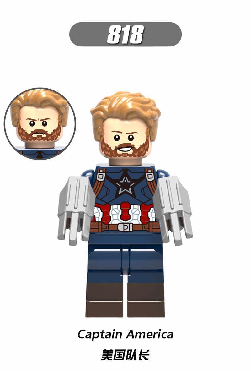 Super herói os vingadores capitão marvel formiga homem vespa blocos de construção hulk pantera negra brinquedos para crianças