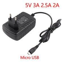 DC 5 V 3A 2A USB złącze mikro 5V3A zasilacz 5 V 3A 2.5A 2A 5 V moc woltów zasilacz ładowarka do USB Raspberry Tablet