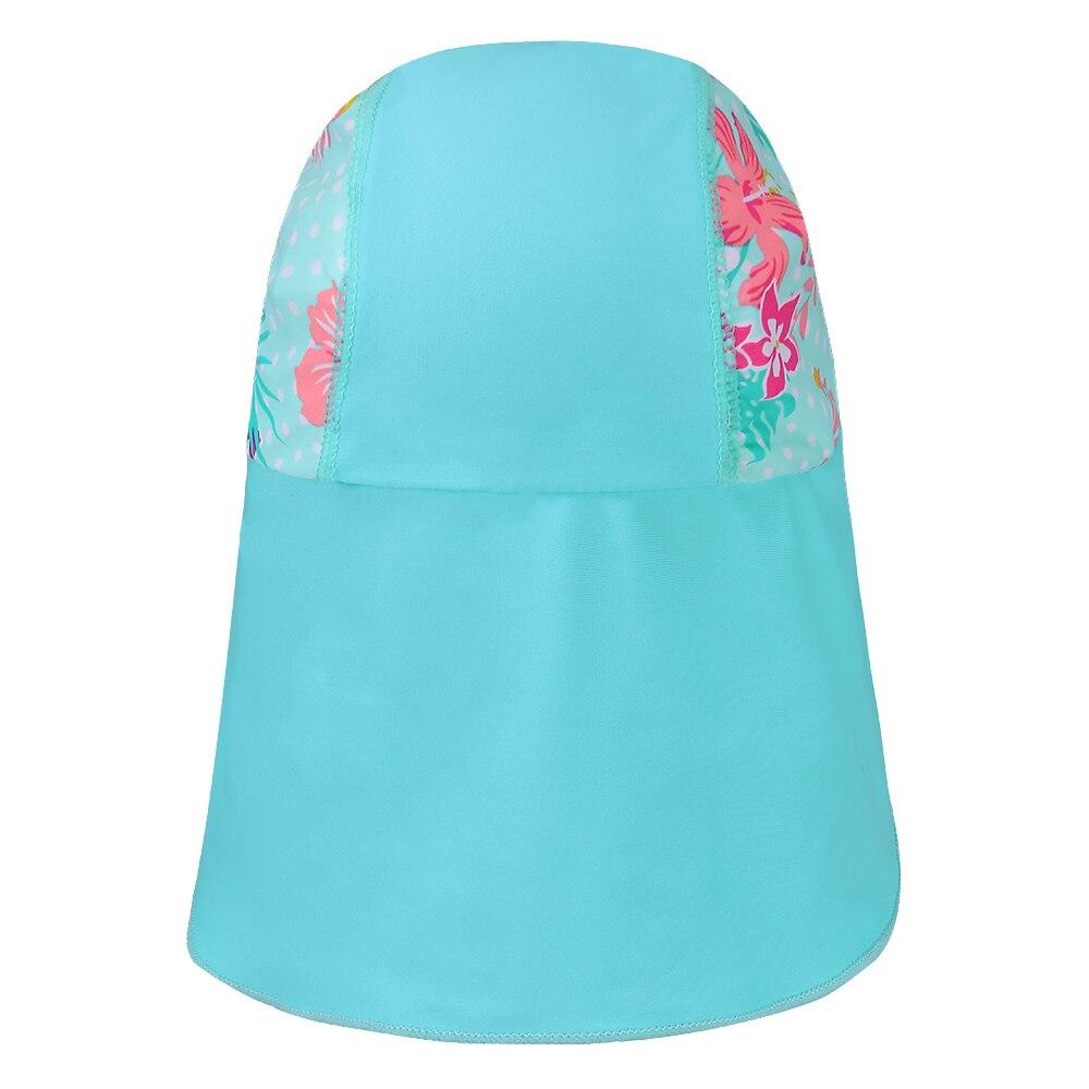 BAOHULU Cute Cyan Print Swimming Cap Children Summer Baby Sun Protection Swim Hats Waterproof for Girls Kids Outdoor Sports Hat Karachi