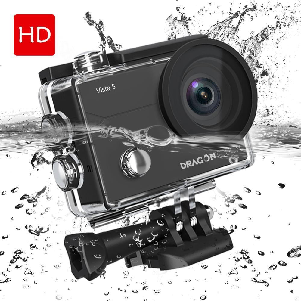 Dragon Touch 4 K caméra d'action Vista 5 16MP WiFi 30 M étanche caméra écran tactile 170°grand Angle 2 piles et montage