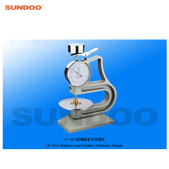 Vulcanized Rubber and Plastic Products Long Position Rubber Thickness Gauge Sundoo LP-10-C