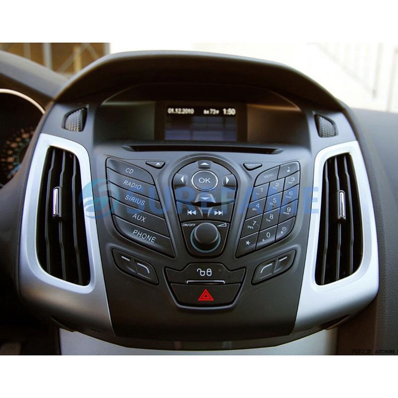 Двойной Din Автомобиль Радио Рамка для Ford для фокуса, C-Max 2010+ с выключателем тире отделка комплект переходная пластина DVD стерео панель адаптер