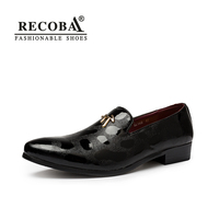 Mens Casual Shoes Luxury PU Leather Flats Slip Ons Business Formal Shoes Mens Party Dress Tassel