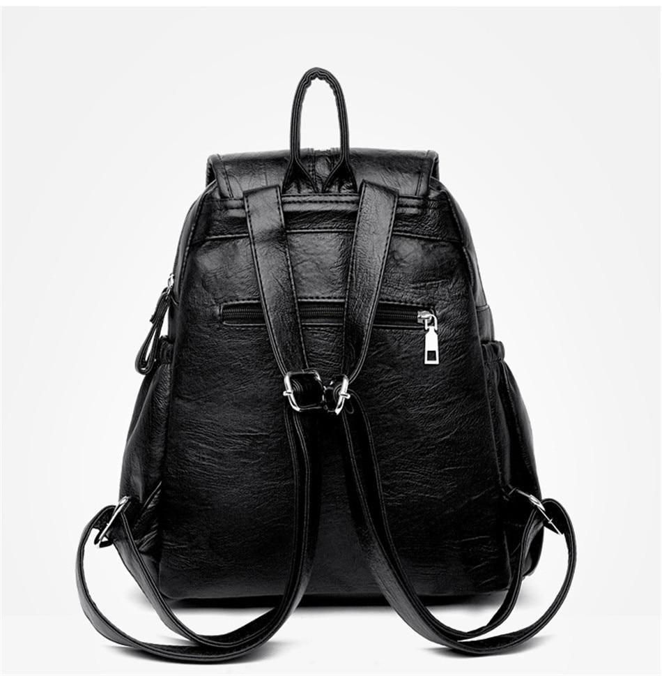 HTB1LFNTaJfvK1RjSspfq6zzXFXal Women Backpack Female High Quality Soft Leather Book School Bags For Teenage Girls Sac A Dos Travel Back pack Rucksacks Mochilas