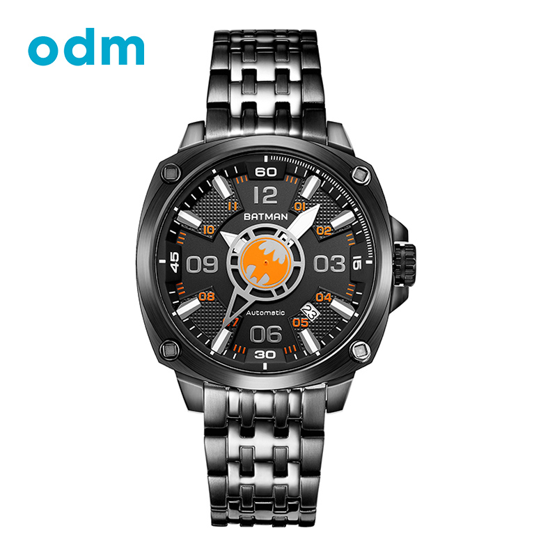 ODM Top Luxury Fashion Creative Design Stainless Steel Strap Automatic Self-Wind Men Watch Waterproof Wristwatch BMF-M13DBDB-14 tevise fashion auto date automatic self wind watches stainless steel luxury gold black watch men mechanical t629a with tool